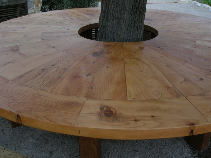 Table bois arbre for Bordure autour d un arbre