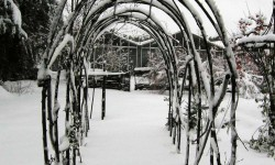 Tonnelle tunnel sous la neige